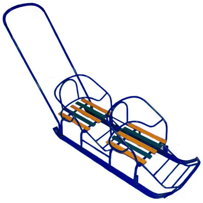 двухместные санки паровозиком