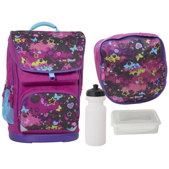 463936ba7e5b Набор (рюкзак 28 л, сумка, бутылка, ланчбокс) Lego Friends Raspberry ...