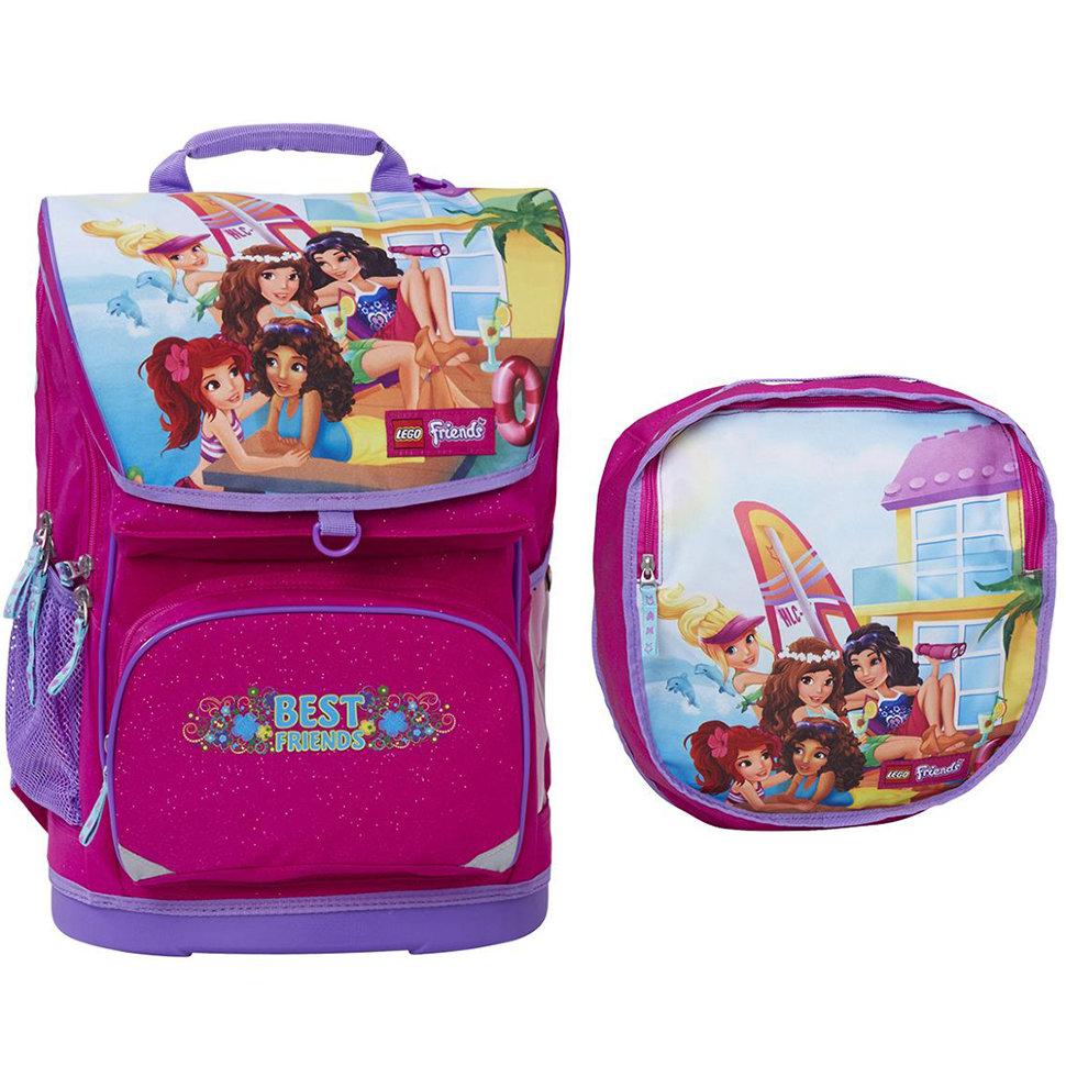 ccce792be780 Набор (рюкзак 28 л, сумка, бутылка, ланчбокс) Lego Friends Girls ...