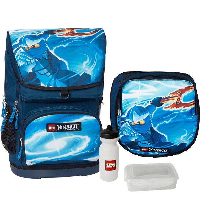 2095e34260ad Набор (рюкзак 30 л, сумка, бутылка, ланчбокс) Lego Ninjago Jay ...