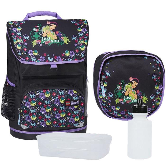 37b252b887d7 Набор (рюкзак 28 л, сумка, бутылка, ланчбокс) Lego Friends Jungle ...